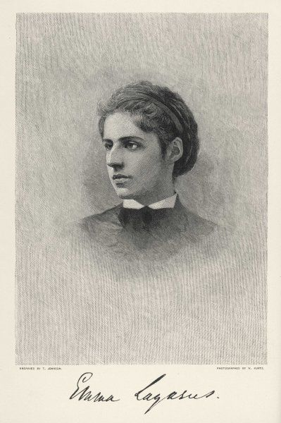 EMMA LAZARUS American poet: author of inscription on the Statue of Liberty Date: 1849 - 1887
