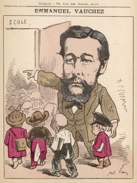 Emmanuel Vauchez (born 1836) French teacher author, journalist and close collaborator of Jean Mac