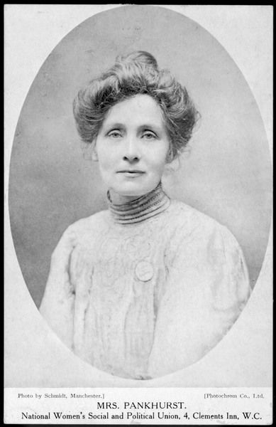 Studio portrait of Emmeline Pankhurst