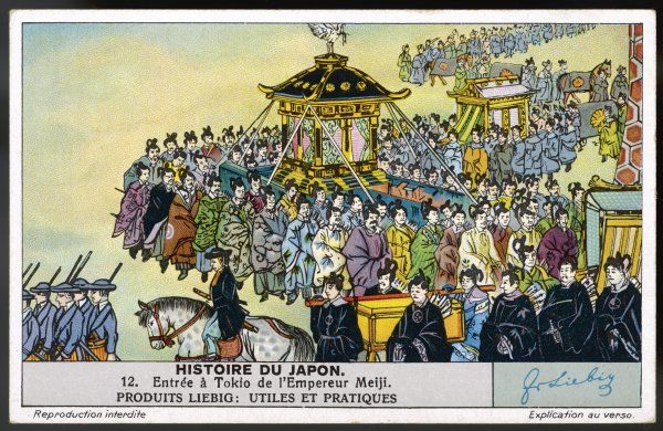 When Shogun Keiki abdicates, civil war breaks out, but the emperor Meiji is able to seize control and makes a triumphal entry into Yedo (Tokyo). Now Japan starts to modernise