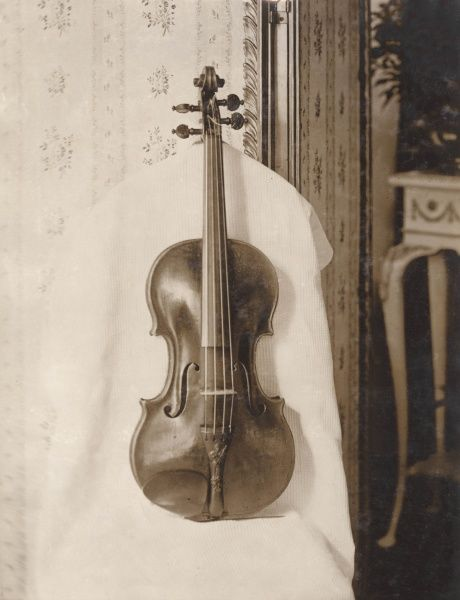 The famous 'Emperor' Stradivarius violin, dating from 1715. It was bought by the violinist and composer Jan Kubelik in 1910 for 10,000 -- the highest price paid for a violin to that date. &quot