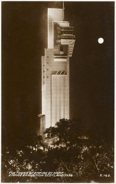 Tait Tower at the Empire Exhibition held at Bellahouston Park, Glasgow, Scotland