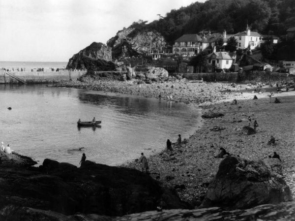 Babbacombe, a picturesque resort on the coast of Devon, England. Date: 1950s