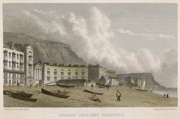 The seafront showing Pelham Crescent