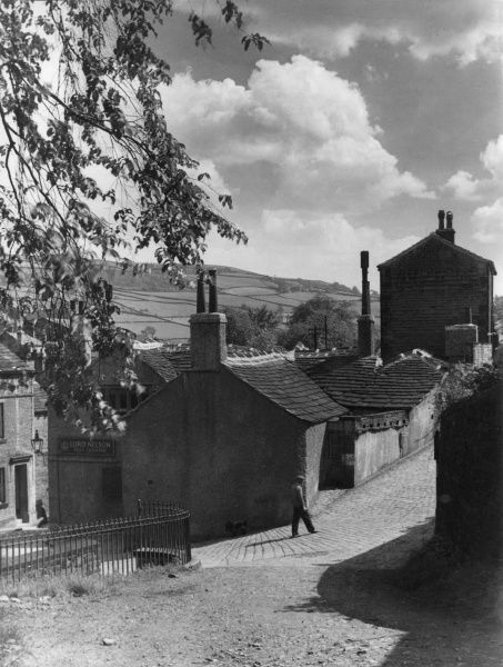 Luddenham village, near Halifax, Yorkshire, England. It was the 'Lord Nelson' public house that Branwell Bronte frequented while working as a railway clerk Date: 1950s