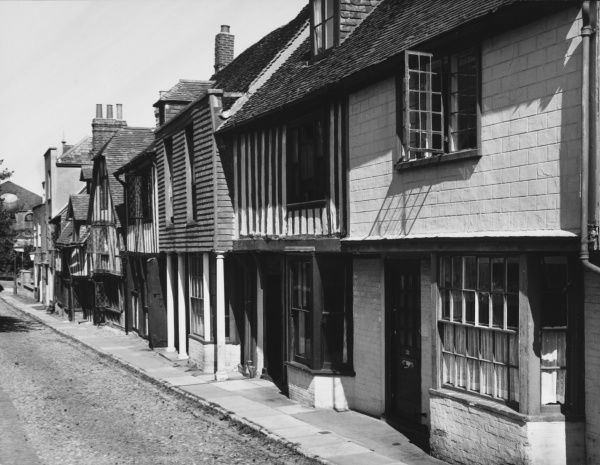 The quaint Church Square, Rye, Sussex, which has the architectural features of an old Flemish town