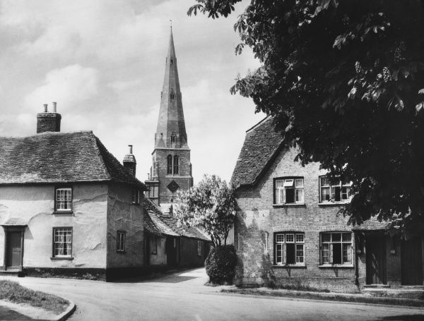 The pretty village of Spaldwick, Cambridgeshire, England