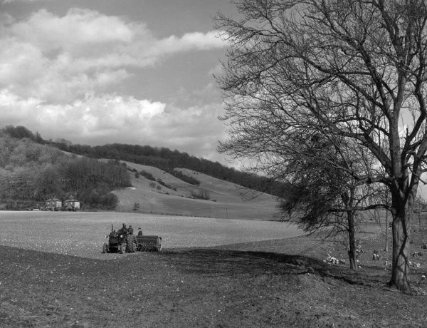 A view of the North Downs, near Oxted, Surrey, England. Date: 1950s
