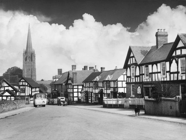 Weobley, a beautiful Herefordshire market town of old half-timbered houses, mellowed by age and clustering round an imposing 14th century church