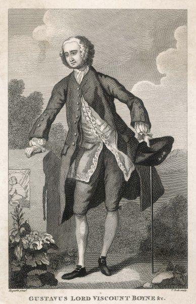 An 18th century English aristocrat - Gustavus, viscount Boyne
