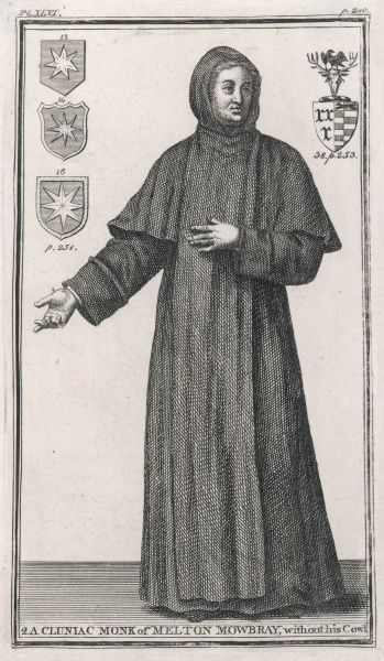 A CLUNIAC MONK of Melton Mowbray, England, depicted without his cowl