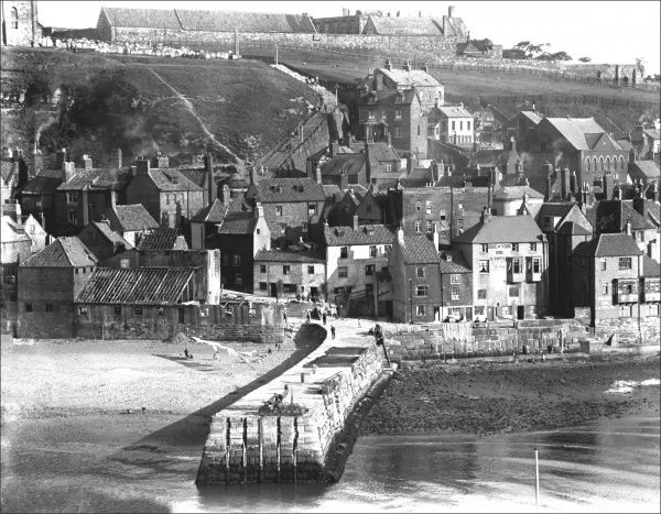 English coastal village, possibly in Cornwall or Devon. Photograph by Ralph Ponsonby Watts