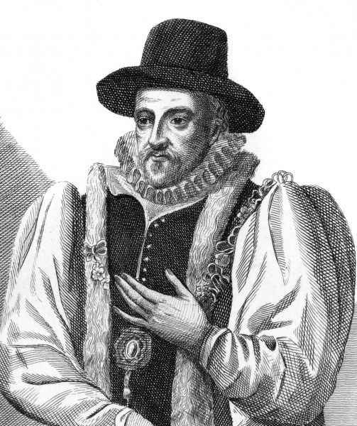 Sir Nicholas Mosley is a clothworker, who this year has been chosen Lord Mayor of the City of London : his clothes are smart, but nothing fancy Date: 1599