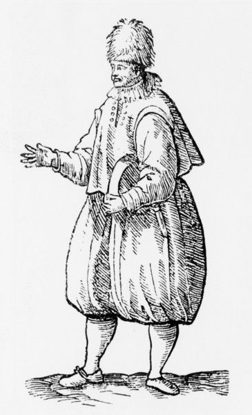 An English sailor. Date: circa 1598
