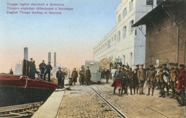 In 1915, during World War I, a large Allied expeditionary force landed at Thessaloniki as the base for operations against pro-German Bulgaria, which ended in the establishment of the Macedonian or Salonika Front