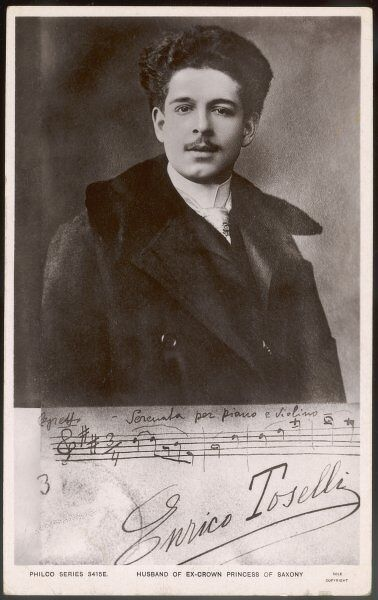 ENRICO TOSELLI Italian musician, best known for 'Serenata' : he married the ex-Crown Princess of Saxony
