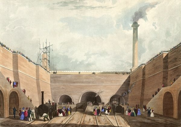 Entrance of the (LMR) railway at Edge Hill, Liverpool, 1831 Date: 1831