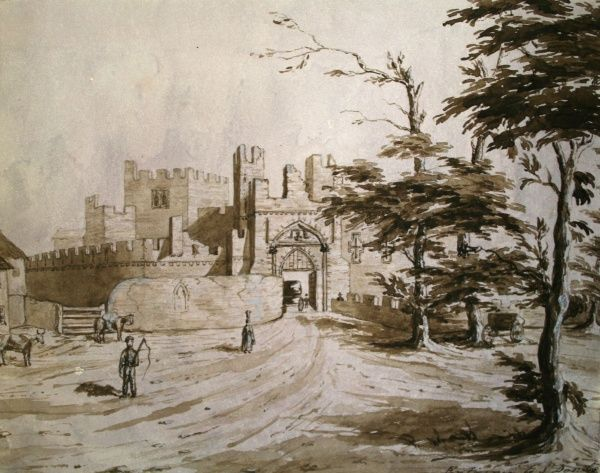 Entrance to St Donat's Castle. Date: 1842