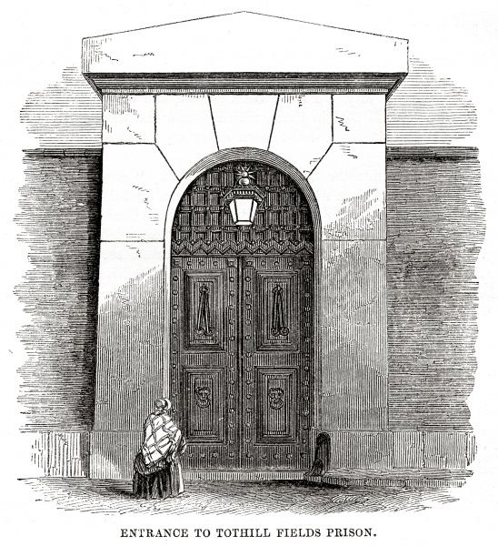 Entrance to Middlesex House of Correction, Tothill Fields, Westminster Date: 1862