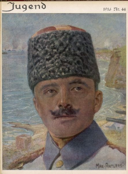 ENVER PASHA Turkish Soldier and Leader of Young Turks. Killed in battle with Soviets