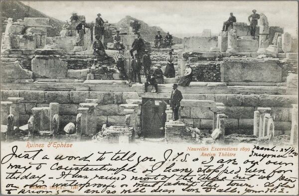New excavations in 1899 of the old Theatre at the site of the ancient city of Ephesus