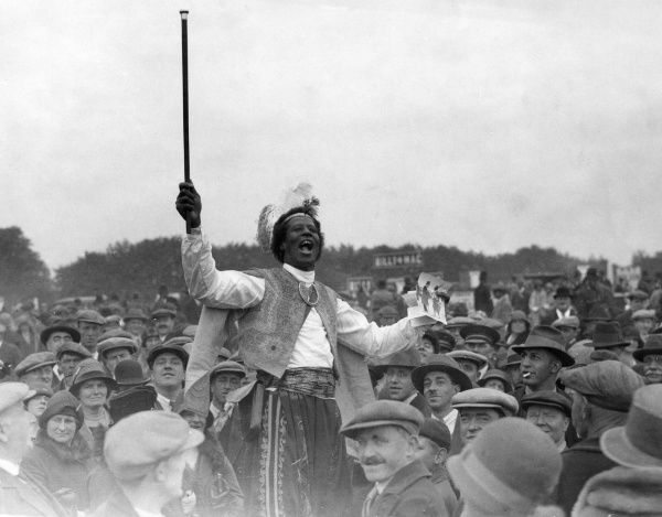 Epsom Derby Day - Prince Monolulu - Tipster. Date: 1929