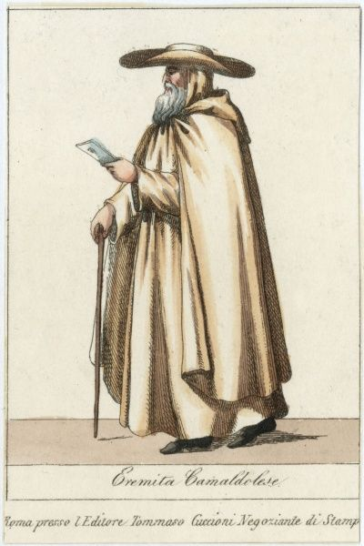EREMITO CAMALDOLESE Hermit of the Camaldoli order, founded about 1012 in Italy