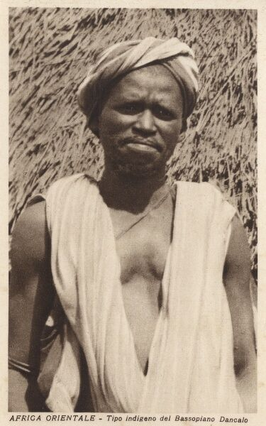 Eritrea, Africa - An indigenous man from the Danakil Lowlands Date: circa 1920s