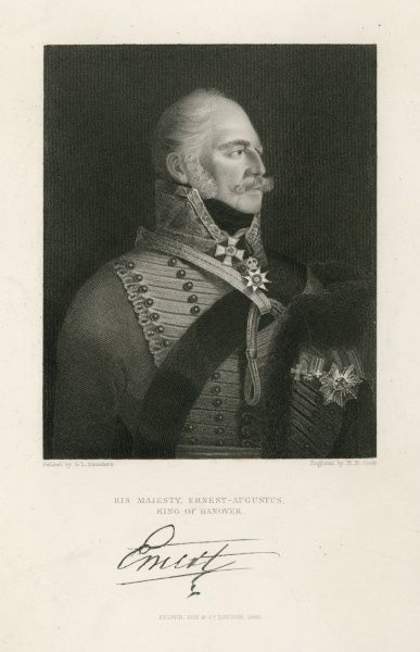 ERNEST AUGUSTUS - Duke of Cumberland (1799) - 5th son of George III - became King of Hanover in 1837