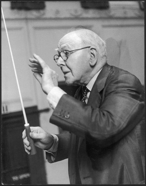 Ernest Read (1879 - 1965), Professor of Music at the Royal Academy, conducting