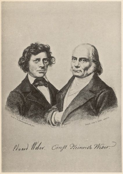 ERNST HEINRICH WEBER German physiologist at Leipzig, depicted with his brother