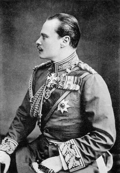 Grand Duke Ernst Ludwig of Hesse-Darmstadt (1868-1937), son of Princess Alice and Grand Duke of Louis of Hesse, pictured in uniform in the 1900s