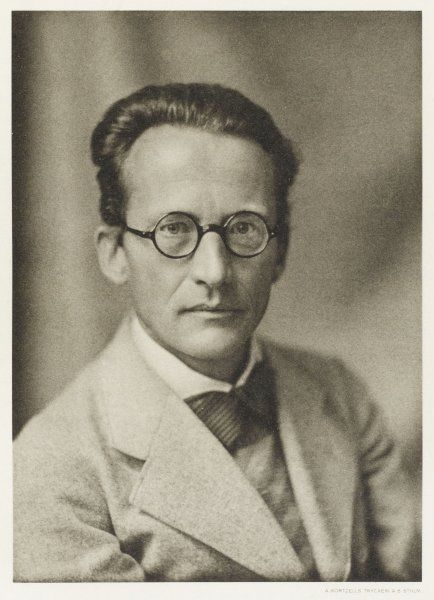 ERWIN SCHRODINGER Austrian physicist whose research into subatomic particles is the basis of quantum mechanics