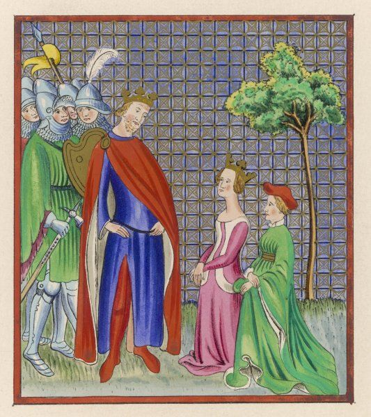 Esther is presented to the Persian emperor Ahasuerus, who makes her his queen although she is Jewish