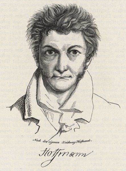 ETW HOFFMANN also known as ETA HOFFMANN (he took the name Amadeus when composing) German Romantic writer and composer