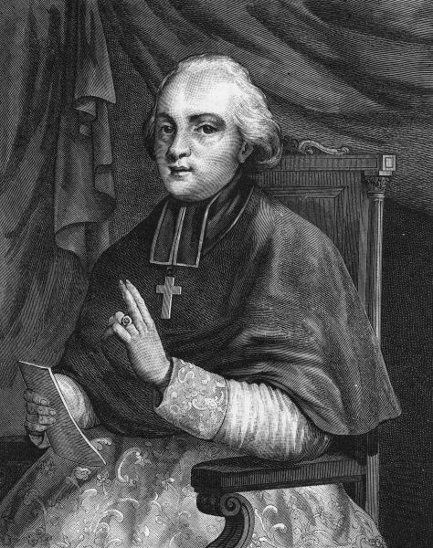 Monseigneur ETIENNE ANTOINE DE BOULOGNE French churchman, bishop of Troyes, champion of the Institut de Freres. Date: 1747 - 1825