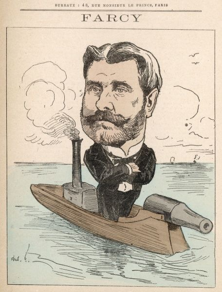 Eugne Farcy (1830-1910) naval officer, inventor of the Farcy gunboat