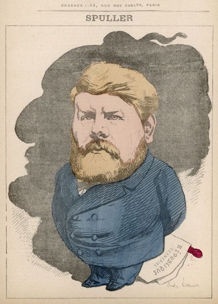 Eugne Spuller (1835-1896) French journalist, member of the Seine, close connections to Gambetta (illustrated in silhouette)