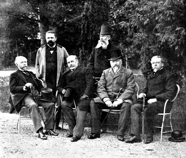 Photograph of the ambassadors of the leading European powers, photographed in the garden of the Austrian Embassy, Constantinople (now Istanbul), 1896
