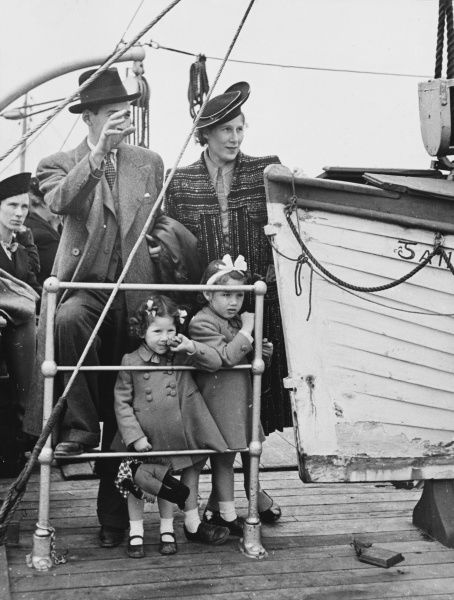 The Pola family now aboard leaving to America, waving tender farewell over the rails for the last view of Galway