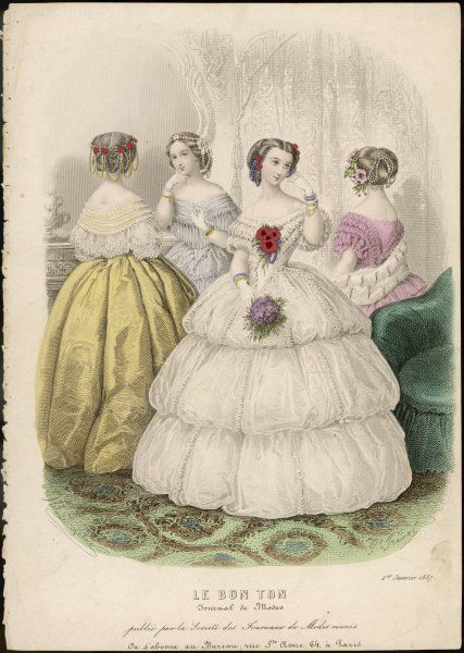 Four ladies dressed for an evening reception
