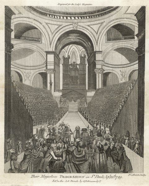 George III attends a service at St. Pauls to give thanks for his recovery from illness