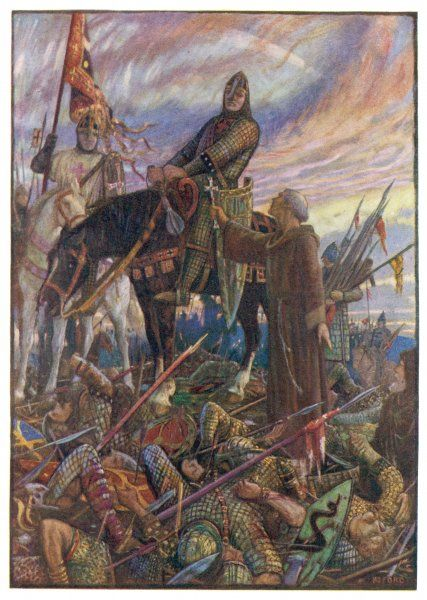 BATTLE OF HASTINGS William, duke of Normandy, defeats the English army led by Harold