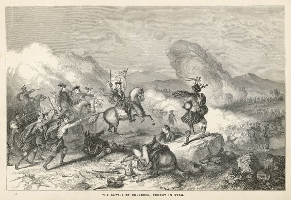 Charles Edward Stuart in action on the battlefield