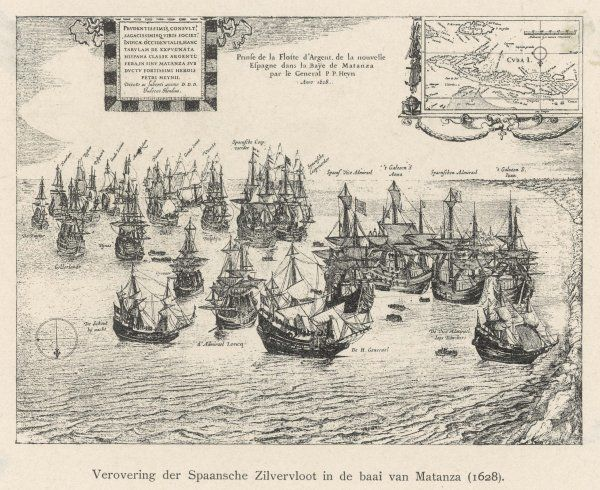 A Spanish 'Silver fleet' is captured by Dutch admiral Pieter Heyn in the bay of Matanza, Cuba