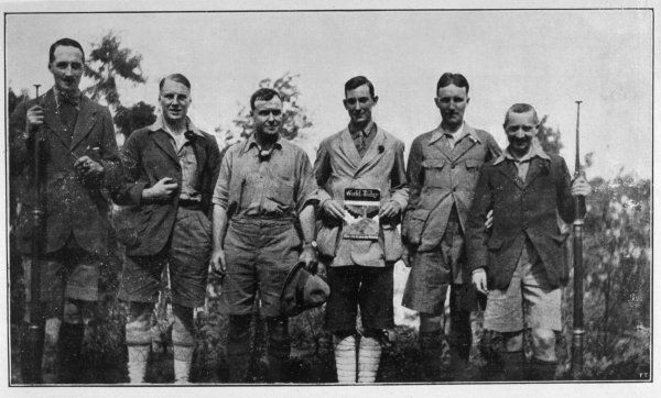 1924 EVEREST EXPEDITION Colonel Norton, the leader (3rd from left) between Irving (L) and Mallory (R) the two climbers who died near the summit