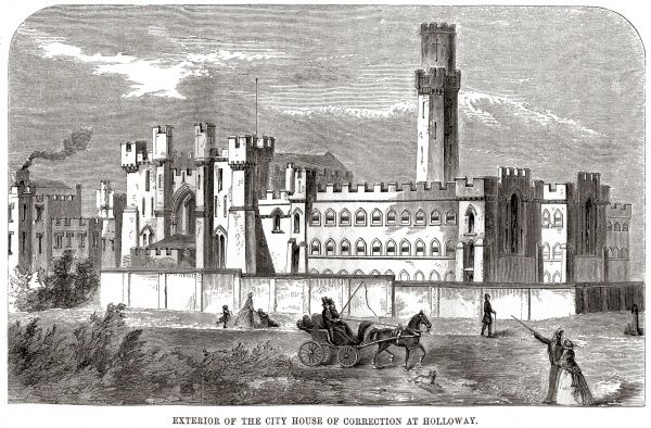 Exterior view of London City Prison and House of Correction, Holloway. Date: 1862
