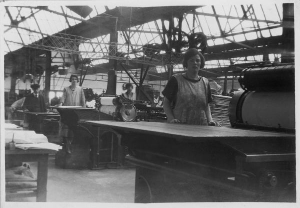 Women working at the Ilford (Essex, England) branch of the Drayton Paper Works