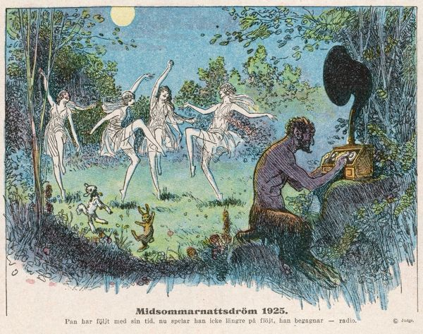Upto-date fairies dance to the music of the radio