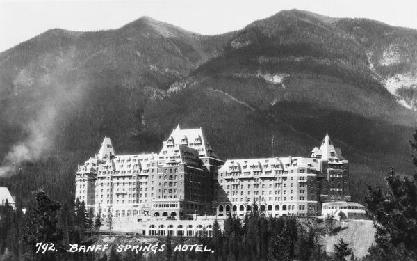The Fairmont Banff Springs Hotel is a former railway hotel constructed in Scottish Baronial style, located in Banff National Park, Alberta, Canada